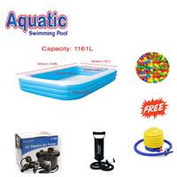AQUATIC Kolam Renang Blue Rectangular Pool 305cm C009 / Kolam Anak