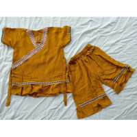 setelan anak perempuan usia 1-7 tahun baju arab anak bahan rayon