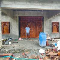 gebyok pintu dan jendela rumah kayu jati
