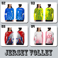 Baju Kaos Tshirt Jersey Lengan Panjang Cewe Olahraga Volley Ball Voli