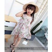 BJ122 - dress bunga flower bahan sifon baju anak balita cewek