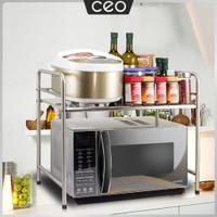 CEO Rak Microwave Stainless Steel Rak Dapur Stainless Serbaguna