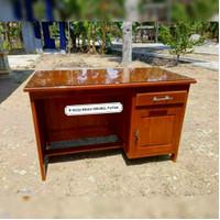 meja kantor meja kerja kayu jati 1/2 Biro Terjangkau