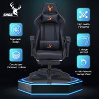 SAGE Premium Quality Gaming Chair Kursi bangku game 145 ° derajat -