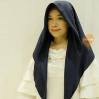 Oskara Azara Hijab Segiempat Voal Miracle Laser Cut jilbab - Mix - Dark Navy