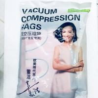 Vacuum compression bags plastik vakum baju 6 pcs + pompa