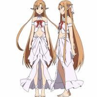 Kostum/Costume cosplay Anime Sword Art Online Yuuki Asuna Titania