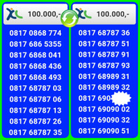 NOMOR CANTIK XL 4G 11 DIGIT banyak pilihan ,10