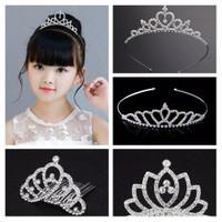 Bando Tiara Mahkota Anak dan Remaja Princess Rhinestone Crown