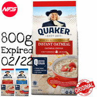 QUAKER Oats Oatmeal-Instant-Quick Cook Bag Pack 800 g-Instan-Masak