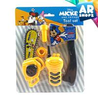 Mickey Tool Set - Mainan Anak Alat Tukang Gergaji Kapak Walkie Talkie
