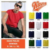 Baju Kaos Oblong Tshirt Polos Dewasa LAKI-LAKI Unisex Cotton Combed