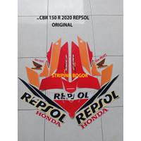 Striping Stiker Motor Honda CBR 150 R Repsol Edition 2020 Orange