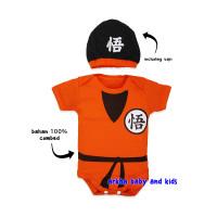jumper bayi goku /baju bayi goku/jumper bayi karakter - goku orange, S (0-6kg)