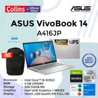 ASUS VIVOBOOK 14 A416JP - i5-1035G1 4GB 512GB MX330 2GB 14FHD W10 OHS