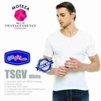 Kaos Dalam Oblong Singlet Pria V-Neck T-Shirt - GT Man TSGV - Putih