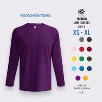 Kaos Polos Lengan Panjang KPM Apparel Premium Long Sleeves Size Dewasa