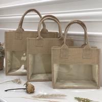 tas goni tote bag kanvas eco green reusable - (S) 22x12 xT18