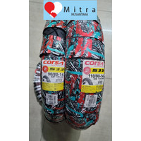 BAN LUAR CORSA PAKET MATIC 90/80-14 DAN 110/80-14 S33 TUBELESS