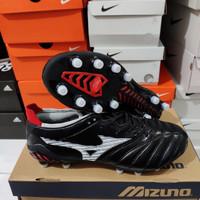 SEPATU BOLA MIZUNO MORELIA NEO 3 BLACK WHITE RED FG - Sepatu Soccer
