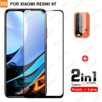 2 IN 1 Tempered Glass Layar Dan Anti Gores Kamera Xiaomi Redmi 9T