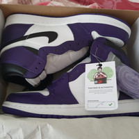 Jordan 1 Retro High Court Purple White US 9,5