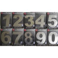 Nomor / Angka Rumah Bahan Logam Stainless Steel Font Besar