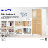 Lemari Plastik Napolly BCR D-8577 Gantung Rotan Ellegant