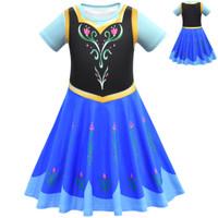 SALE Baju anak import/dress frozen/elsa pesta kostum elsa cartoon