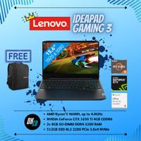 LENOVO IDEAPAD GAMING 3 (RYZEN 5-4600H/16GB/512GB/GTX1650TI/WIN/OHS)