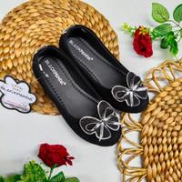 Sepatu balet / flatshoes anak perempuan blackpanda bahan import