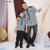 Cp Akbar/Baju Koko Couple - Couple Ayah Dan Anak - Baju Muslim Terbaru