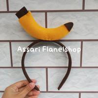 Bando flanel karakter pisang banana