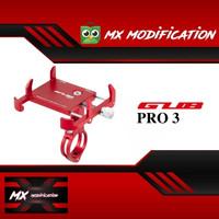 Holder HP GPS untuk Sepeda dan Motor GUB Pro 3 Original - Merah