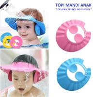 Topi|Keramas|Mandi|Anak|Bayi|Baby|Shower|Cap|Pelindung|Air|Kado|Hadiah