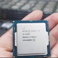 intel i3 6100 socket 1151 tray, tanpa fan