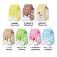 [BPOM] APIEU one pack sheet mask - White Milk