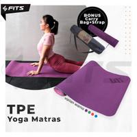 SFIDN FITS TPE Yoga Mat Matras Yoga | TPE Anti Slip Anti Alergy - Ungu