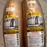 ban fdr mp 57 ring 17 paket ukuran 90/80-17 race compound ban tubeless