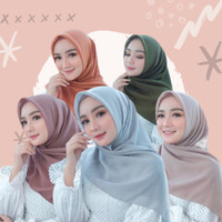 Bella square | kerudung | potton | hijab segi empat | double hycon - GREY