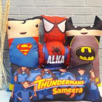 souvenir bantal guling super hero custom / bantal custom super hero