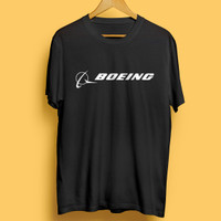 Kaos T-shirt Boeing Baju Boing Penerbangan Pakaian Aviasi Pesawat