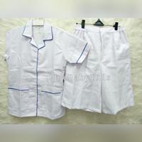 Seragam Suster putih polos kulot / Baju suster kulot murah