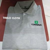Polo shirt Pria Kaos Kerah Consina Golf - Abu-abu, M
