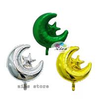 balon foil star moon / balin foil bulan bintang - silver