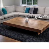 meja kayu jati balok 120x80x20 tebal 6cm