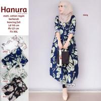 Baju Atasan Wanita Blouse Muslim New Hanura Long Tunik