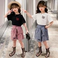 Setelan baju rok korea anak perempuan