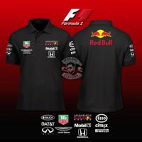 Kaos Kerah Polo Shirt RED BULL MOBILE F1 High Quality Terlaris