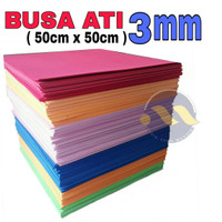 Busa Ati 3mm ( 60cm x 50cm) Spon Eva / Busa Hati / eva foam / foam Art